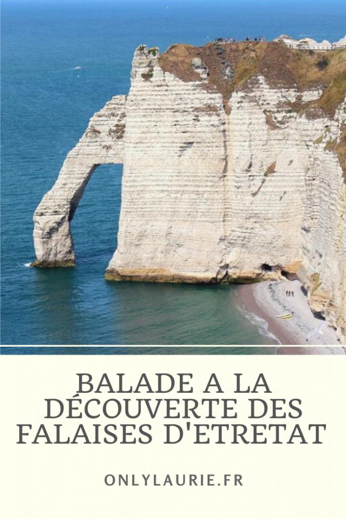 Balade à la découverte des falaises d'Etretat En Normandie. Un superbe endroit à découvrir en France.