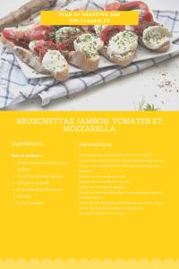Recette de bruschettas jambon, tomates et mozzarella. En plat ou pour l'apéro, elles sont rapides et faciles à faire.