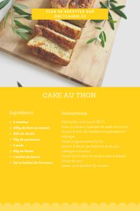 Fiche recette cake au thon et tomates. Parfaite pour un apéro healthy.