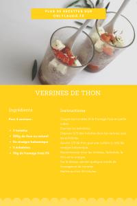 Fiche recette de verrines de thon et tomates. Healthy et rapide à faire.