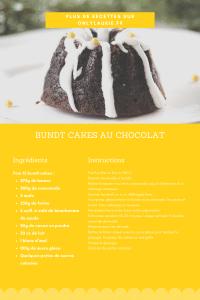 Fiche recette pour faire des bundt cakes au chocolat. Gourmand et facile à faire. Ils seront parfait en dessert, goûter ou pour Noël.