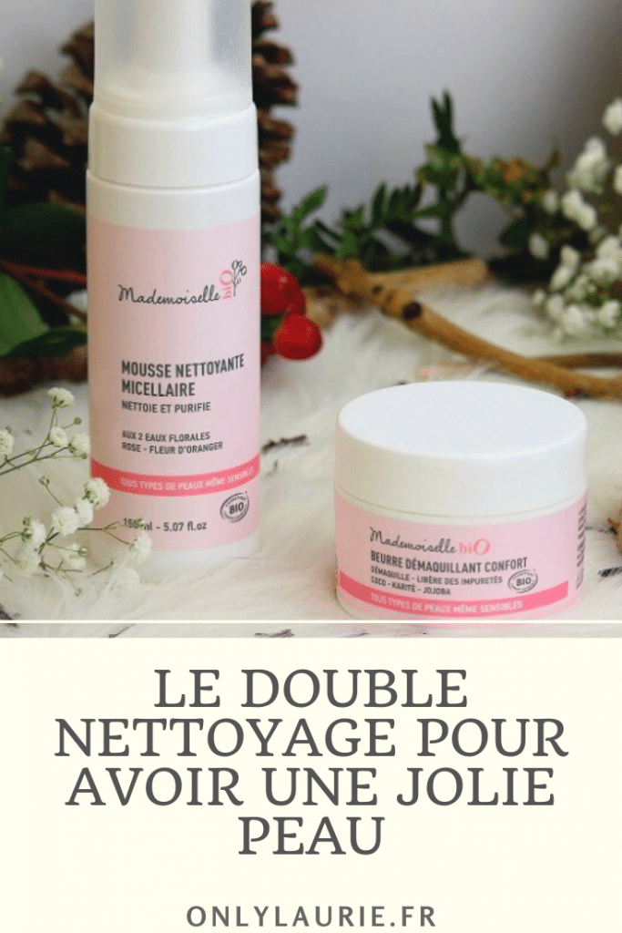La technique du double nettoyage pour avoir une jolie peau au naturelle. Des produits bio, adaptées aux peaux sensibles. Une technique en 2 étapes avec un beurre et un nettoyant visage accompagné d'une éponge konjac.