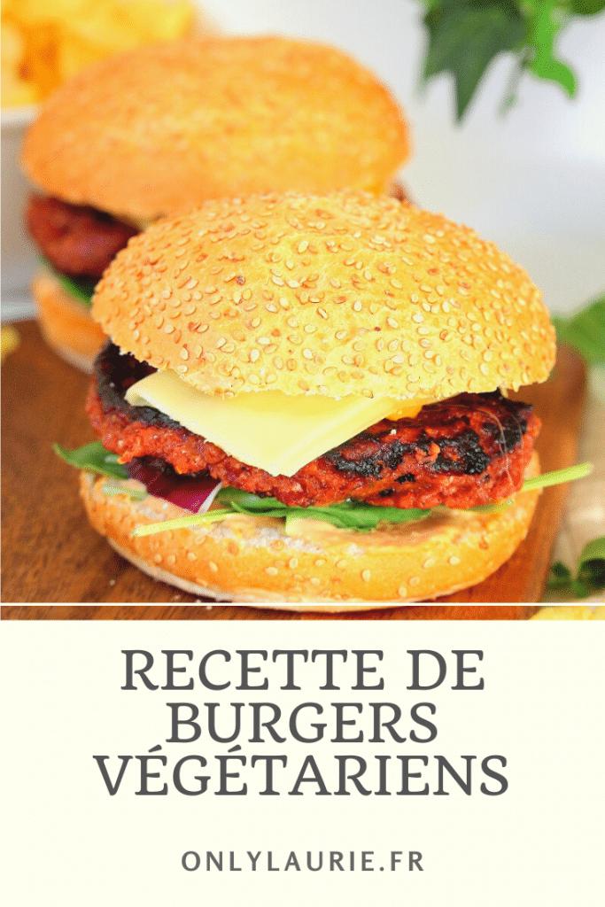 Burger végétariens avec une recette de steak vegan d'haricots rouges. Une recette végétarienne, facile à faire.