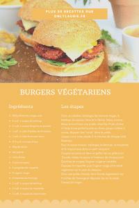 Fiche recette pour faire des burgers végétariens à base de légumineuses.