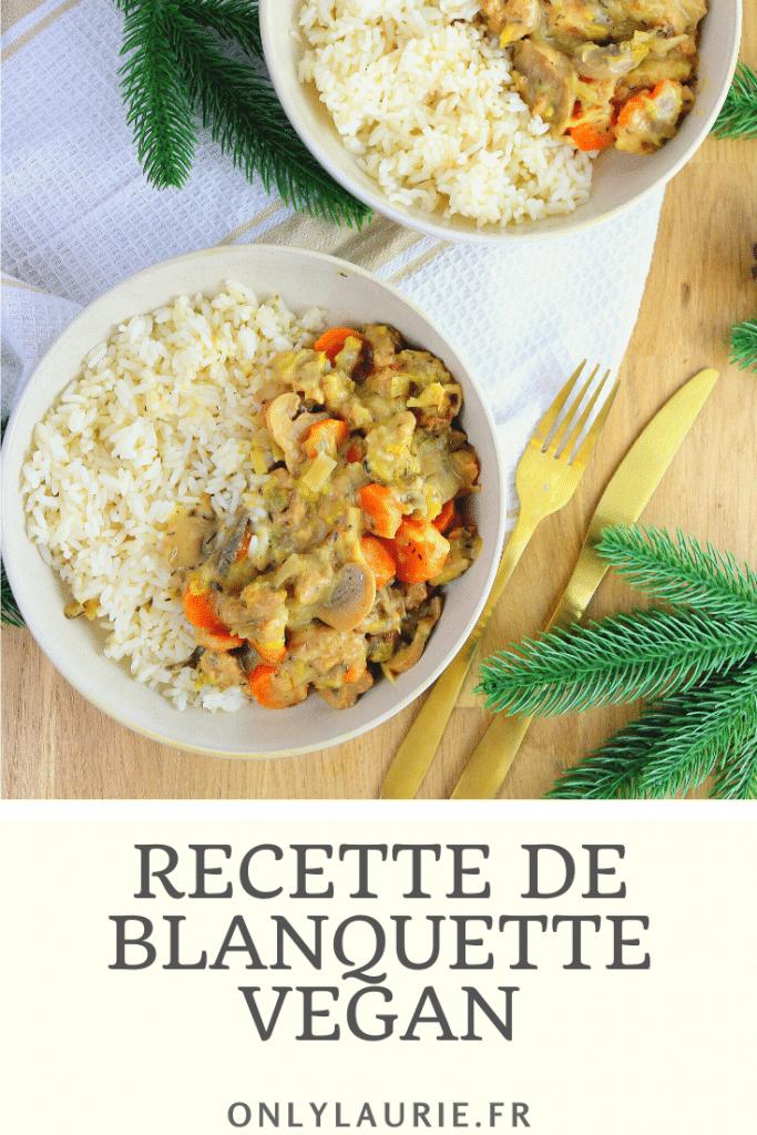 Recette de blanquette végétalienne. Une recette vegan, inspirée de la cuisine française et facile à faire.