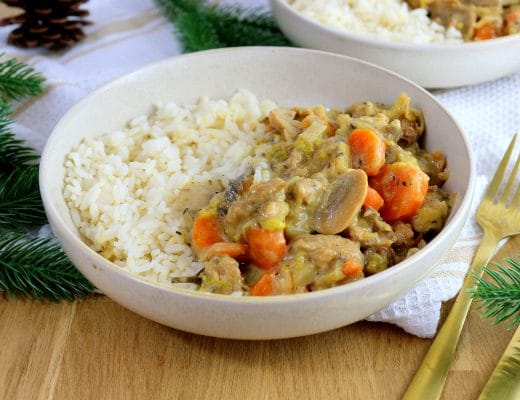 Recette traditionnelle française revisitée pour réaliser une blanquette vegan. Une recette végétalienne healthy et facile à faire.