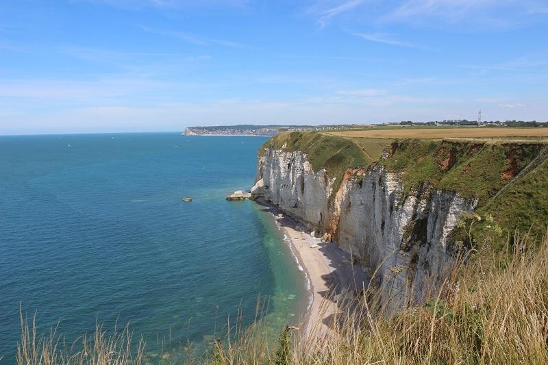 Falaises en Normandie proche d'étretat pour de jolies vacances en France.